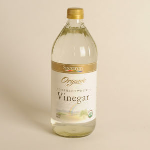 A bottle of white vinegar